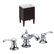 23.75-in. W Floor Mount Antique Walnut Vanity Set For 3H8-in. Drilling