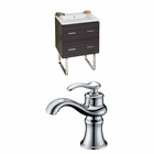 American Imaginations 23.75-in. W Floor Mount Dawn Grey Vanity Set For 1 Hole Drilling