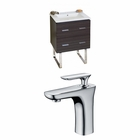 23.75-in. W Floor Mount Dawn Grey Vanity Set For 1 Hole Drilling