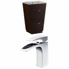 American Imaginations 23.75-in. W Floor Mount Wenge Vanity Set For 1 Hole Drilling