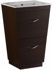 23.75-in. W Floor Mount Wenge Vanity Set For 1 Hole Drilling