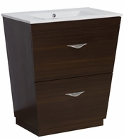 23.75-in. W Floor Mount Wenge Vanity Set For 3H4-in. Drilling