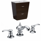 American Imaginations 23.75-in. W Floor Mount Wenge Vanity Set For 3H8-in. Drilling