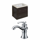American Imaginations 23.75-in. W Wall Mount Dawn Grey Vanity Set For 1 Hole Drilling