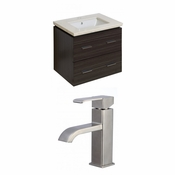23.75-in. W Wall Mount Dawn Grey Vanity Set For 1 Hole Drilling