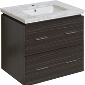 23.75-in. W Wall Mount Dawn Grey Vanity Set For 1 Hole Drilling Bianca Carara Top White UM Sink