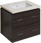 American Imaginations 23.75-in. W Wall Mount Dawn Grey Vanity Set For 1 Hole Drilling White UM Sink