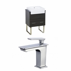 American Imaginations 23-in. W Floor Mount Dawn Grey Vanity Set For 1 Hole Drilling