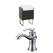 23-in. W Floor Mount Dawn Grey Vanity Set For 1 Hole Drilling