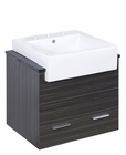 American Imaginations 23-in. W Wall Mount Dawn Grey Vanity Set For 3H8-in. Drilling Black Galaxy Top