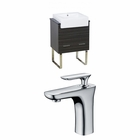 American Imaginations 24-in. W Floor Mount Dawn Grey Vanity Set For 1 Hole Drilling