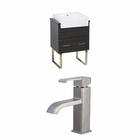 24-in. W Floor Mount Dawn Grey Vanity Set For 1 Hole Drilling