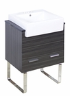 American Imaginations 24-in. W Floor Mount Dawn Grey Vanity Set For 3H4-in. Drilling Black Galaxy Top