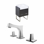 American Imaginations 24-in. W Floor Mount Dawn Grey Vanity Set For 3H8-in. Drilling