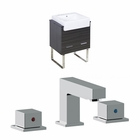 24-in. W Floor Mount Dawn Grey Vanity Set For 3H8-in. Drilling