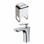 American Imaginations 24-in. W Floor Mount White Vanity Set For 1 Hole Drilling