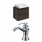 American Imaginations 24-in. W Wall Mount Dawn Grey Vanity Set For 1 Hole Drilling