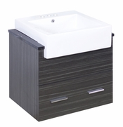 24-in. W Wall Mount Dawn Grey Vanity Set For 3H4-in. Drilling Black Galaxy Top