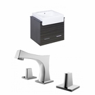 24-in. W Wall Mount Dawn Grey Vanity Set For 3H8-in. Drilling
