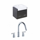 American Imaginations 24-in. W Wall Mount Dawn Grey Vanity Set For 3H8-in. Drilling