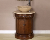 "24"" Silkroad Single Sink Cabinet Travertine Top"