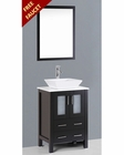 24in Single Square Vessel Sink Vanity by Bosconi BOAB124S