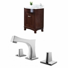 American Imaginations 25.5-in. W Floor Mount Coffee Vanity Set For 3H8-in. Drilling