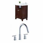 25.5-in. W Floor Mount Coffee Vanity Set For 3H8-in. Drilling
