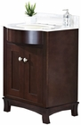 American Imaginations 25.5-in. W Floor Mount Coffee Vanity Set For 3H8-in. Drilling Beige Top Biscuit UM Sink