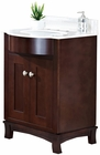 25.5-in. W Floor Mount Coffee Vanity Set For 3H8-in. Drilling Beige Top White UM Sink