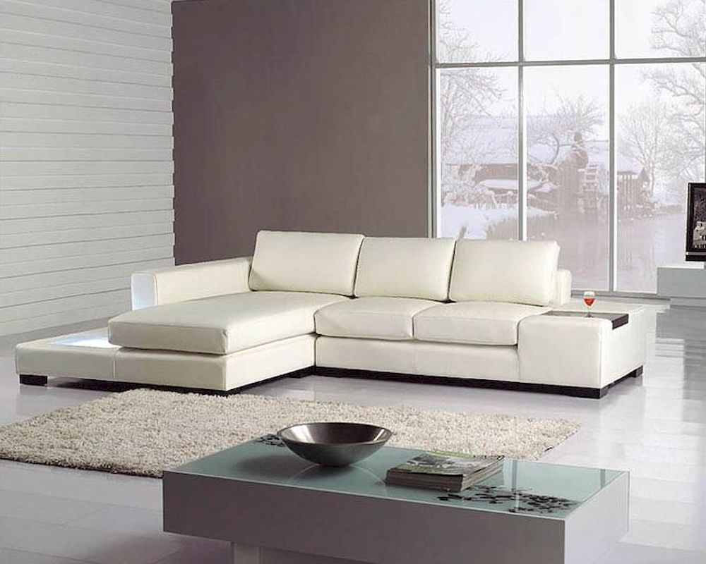 2pc white leather sectional sofa set 44lt35miniwhl for Sectional sofa set up