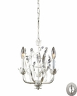 ELK 3- Light Chandelier in Antique White With Adapter Kit EK-18112-3-LA