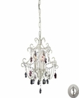 ELK 3 Light Chandelier in Antique White With Adapter Kit EK-4041-3-LA