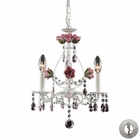 ELK 3 Light Chandelier in Antique White With Adapter Kit EK-4053-3-LA