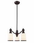 ELK 3 Light Chandelier in Oiled Bronze EK-66672-3