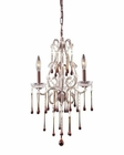 ELK 3 Light Chandelier in Rust and Amber Crystal EK-4011-3AMB