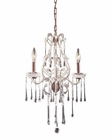 ELK 3 Light Chandelier in Rust and Clear Crystal EK-4011-3CL