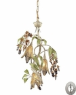 ELK 3 Light Chandelier in Seashell and Amber Glass With Adapter Kit EK-86051-LA