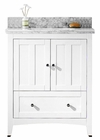 30.5-in. W Floor Mount White Vanity Set For 3H8-in. Drilling Bianca Carara Top White UM Sink