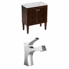 30-in. W Floor Mount Antique Walnut Vanity Set For 1 Hole Drilling