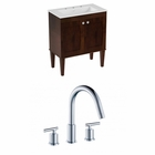 30-in. W Floor Mount Antique Walnut Vanity Set For 3H8-in. Drilling