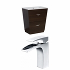 American Imaginations 30-in. W Floor Mount Wenge Vanity Set For 1 Hole Drilling
