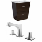 American Imaginations 30-in. W Floor Mount Wenge Vanity Set For 3H8-in. Drilling