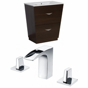 30-in. W Floor Mount Wenge Vanity Set For 3H8-in. Drilling