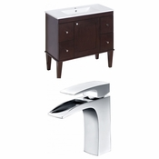 35.5-in. W Floor Mount Antique Walnut Vanity Set For 1 Hole Drilling