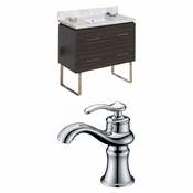 36-in. W Floor Mount Dawn Grey Vanity Set For 1 Hole Drilling