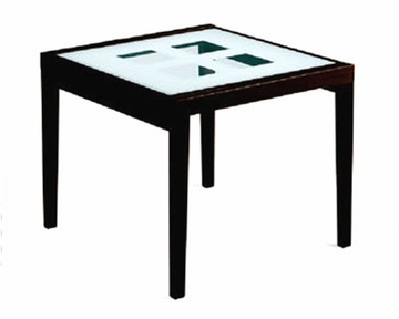 36in Expandable Dining Table Paloma W Frosted Glass Top
