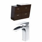 37.75-in. W Floor Mount Wenge Vanity Set For 1 Hole Drilling