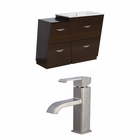 American Imaginations 37.75-in. W Floor Mount Wenge Vanity Set For 1 Hole Drilling