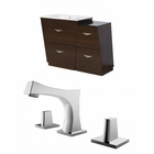 American Imaginations 37.75-in. W Floor Mount Wenge Vanity Set For 3H8-in. Drilling